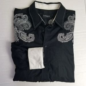 JAMES CAMPBELL embroidered button shirt